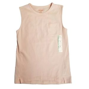Girls Cat & Jack Sleeveless Pocket Tee Tank Blush